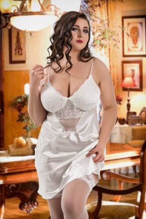 8f051fcc41c 042  Frida  White Satin Chemise with Cute Pockets ...